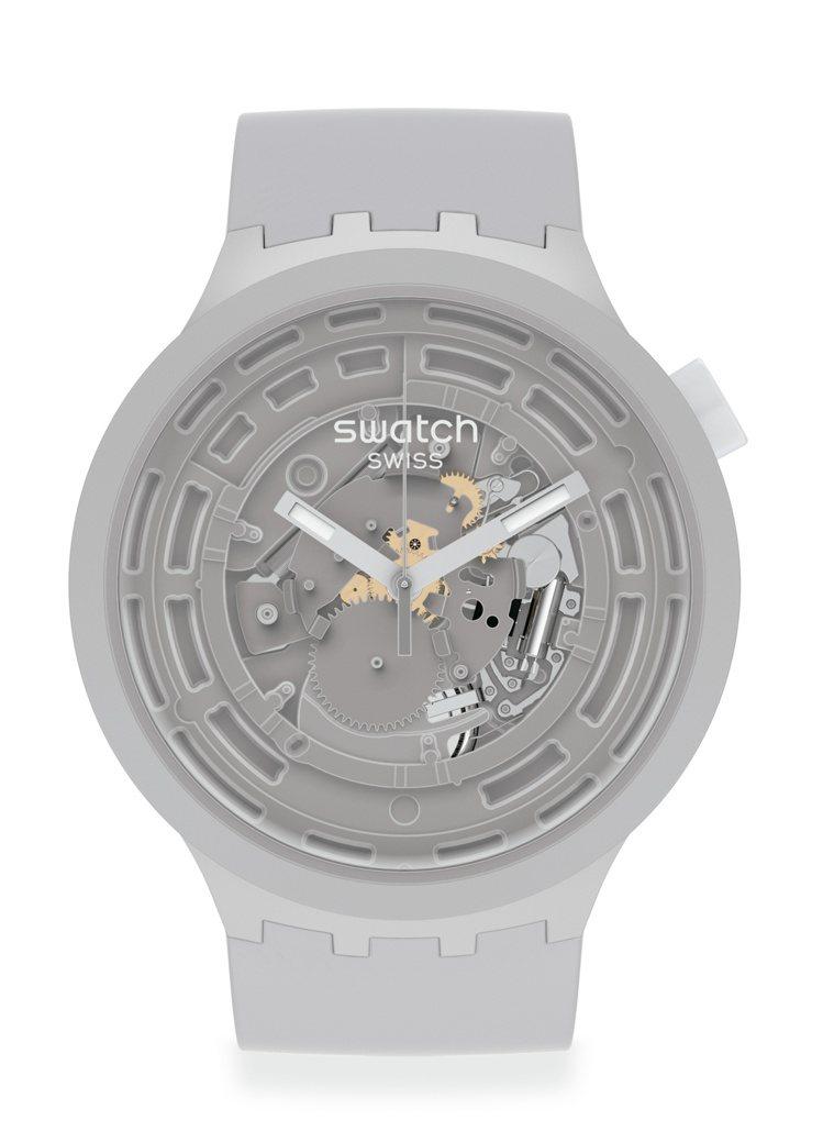 SWATCH Next Big Bold生物陶瓷腕表4,100元。圖/SWATC...