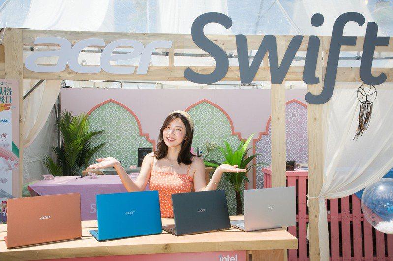 全系列Swift輕薄筆電是行動商務人士、時尚達人必選的3C利器。圖/宏碁提供