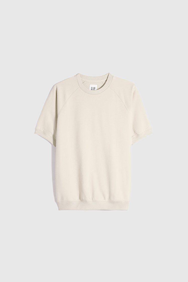 Gap舒適碳素軟磨短袖休閒上衣999元。圖/Gap提供
