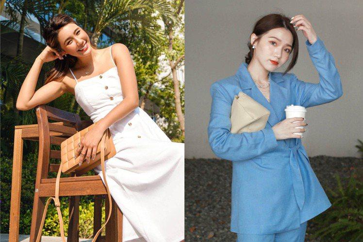 H&M初夏系列更請到時尚潮模Angelina(左)與Cos分別演繹。圖/...