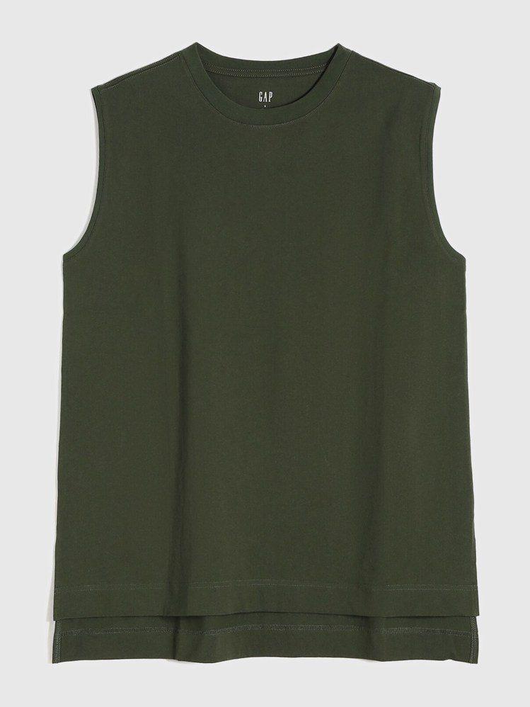Gap純棉質感厚磅無袖T恤699元。圖/Gap提供
