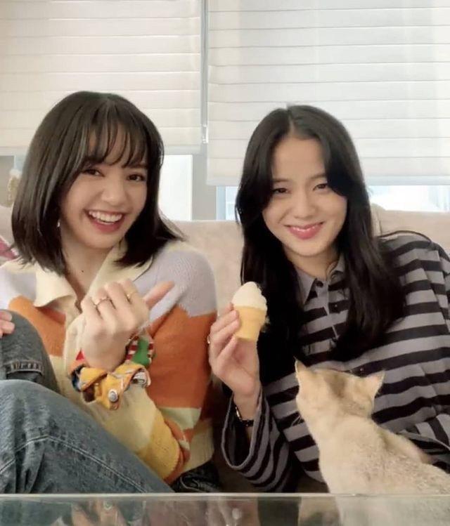 Lisa(左)身穿HOUSE OF SUNNY針織外套,搭襯超棒的燦爛微笑。圖/...