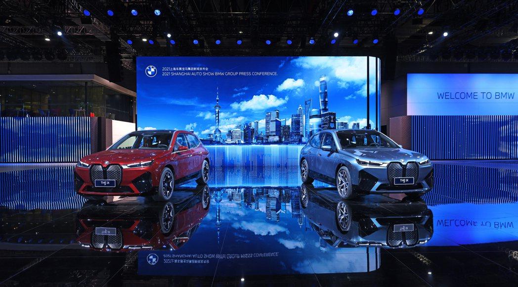 在2021上海車展上舉行全球首發會的全新BMW iX純電旗艦休旅。 摘自BMW