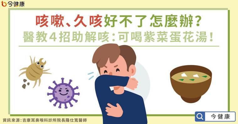 咳嗽、久咳好不了怎麼辦?醫教4招助解咳:可喝紫菜蛋花湯