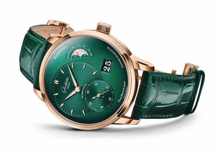 格拉蘇蒂原創PanoMaticLunar腕表,價格店洽。圖 / 格拉蘇蒂原創提供...