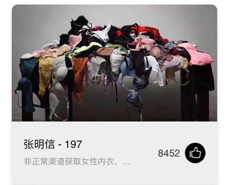 入選中國SAP藝術大獎的《197》,除了被揭偷盜,也引發「內衣雜陳,算不算藝術?」的爭議。圖源:新京報
