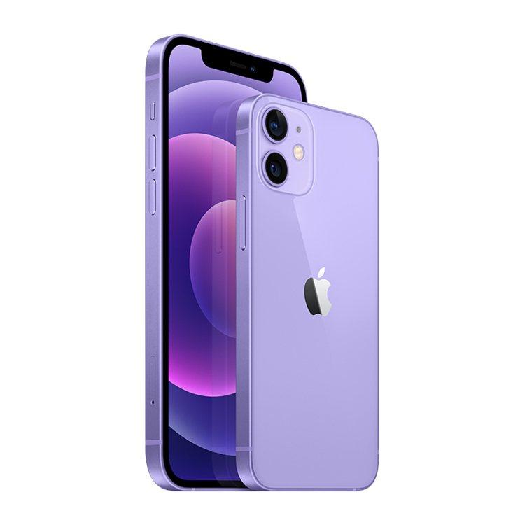 最新的iPhone 12、iPhone 12 mini紫色今天(4月30日)正式...