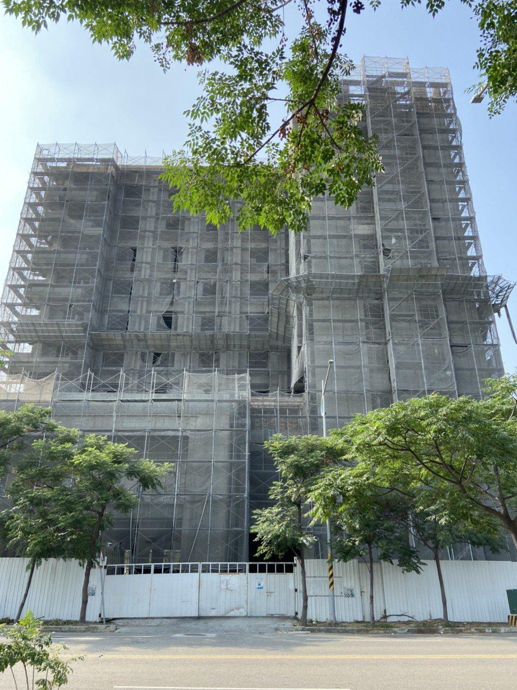 彰化高鐵特定區興建10層樓旅館,在縣內相當具規模。圖/彰化縣府提供