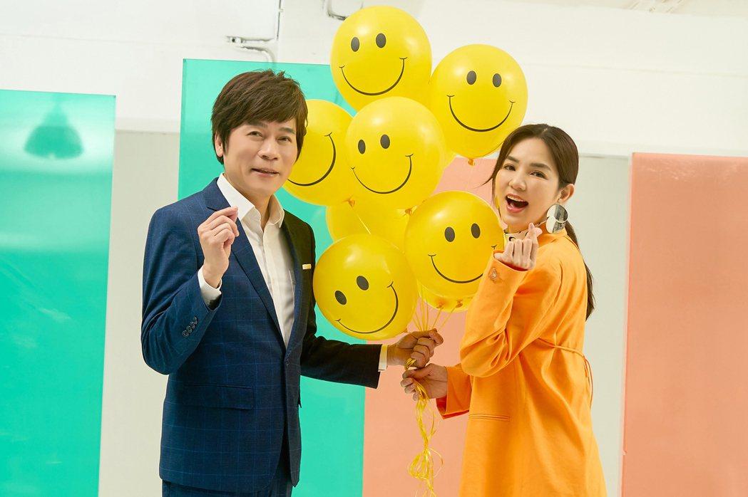 金曲歌王洪榮宏與Ella跨世代合作台語新歌「惜你每一天」。圖/華特音樂、勁樺娛樂