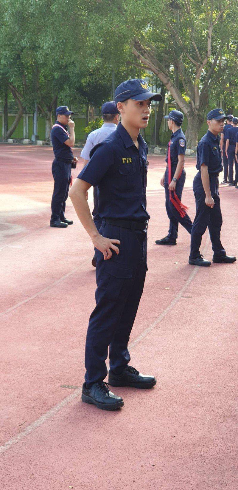 警專38期海洋巡防科學員李泰億。記者李隆揆/翻攝