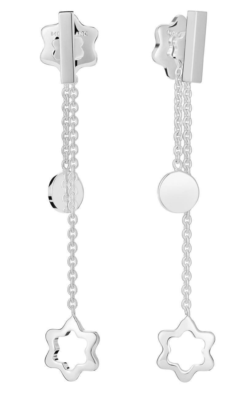 萬寶龍4810系列純銀長耳環,13,200元。圖 / 萬寶龍提供。