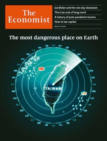 最新一期「經濟學人」雜誌以「地球上最危險地區」為題,警告台海地區若爆發戰爭,將成...