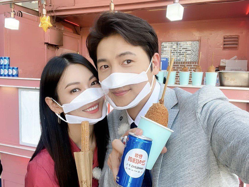 金素妍與李尚禹感情甜蜜。圖/擷自IG