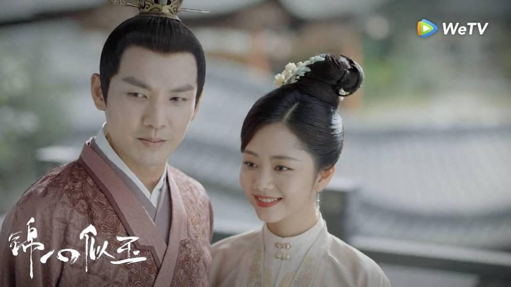 譚松韻(右)、鍾漢良在「錦心似玉」飾演夫妻。圖/WeTV海外站提供