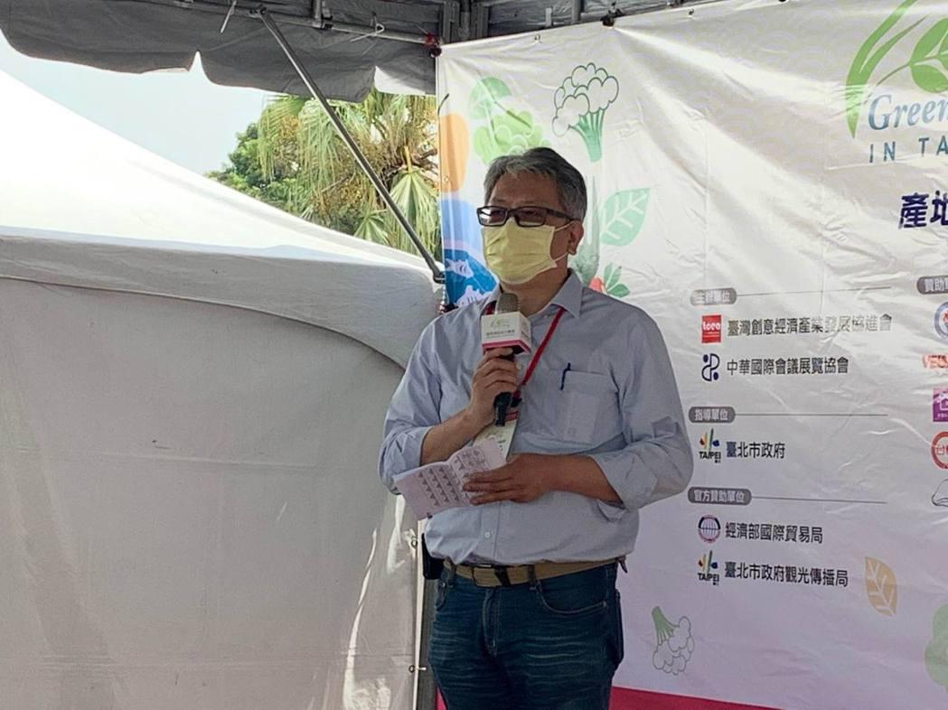臺創協會理事長陳仁德表示,這次綠色饗宴市集邀請符合健康減碳、綠色環保的店家、在地...