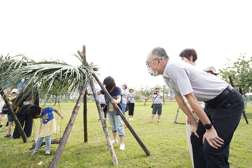 大受歡迎的聚落共築活動。 十三行博物館/提供