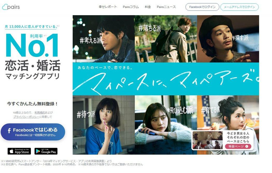 Match集團旗下的交友軟體Pairs,成功打進難以打進的日本市場,使日本成為該...