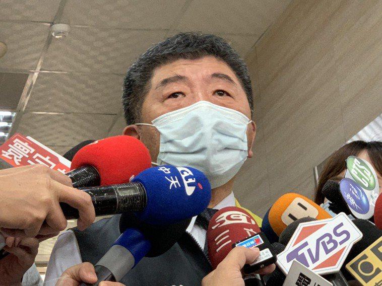 中央流行疫情指揮中心指揮官陳時中今接受採訪。記者陳雨鑫/攝影