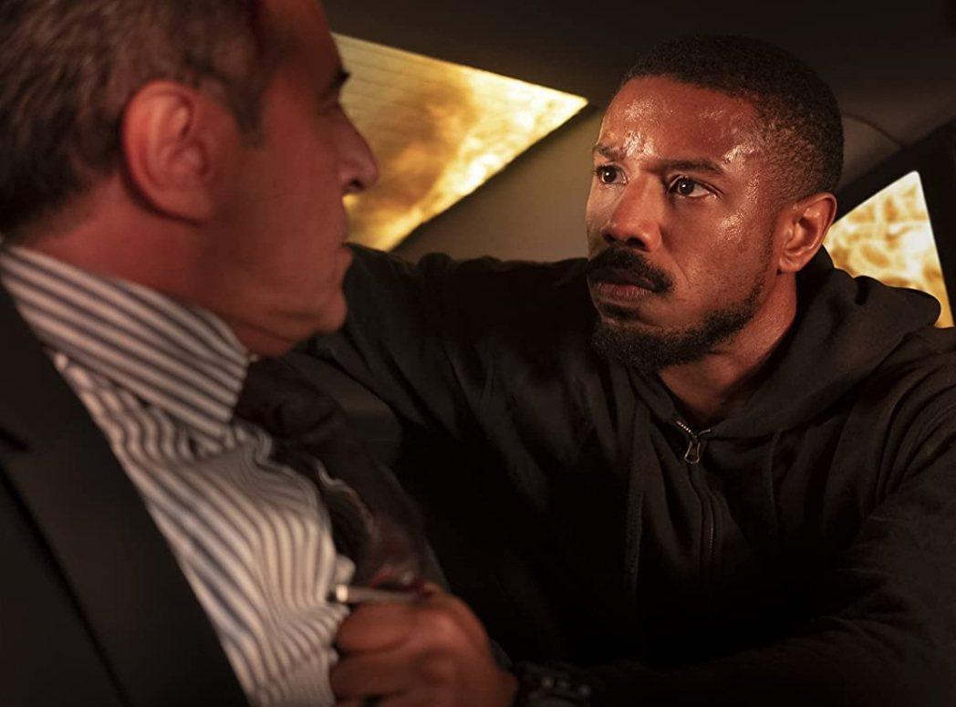 麥可B喬丹(右)在「湯姆克蘭西之冷血悍將」表現賣力。圖/摘自imdb