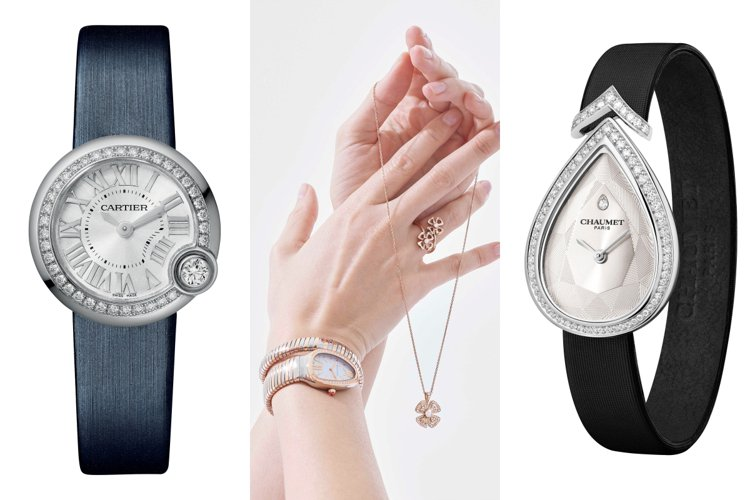 母親節送手表,挑選讓媽媽很有面子的品牌絕對沒錯。圖/卡地亞、寶格麗、CHAUME...