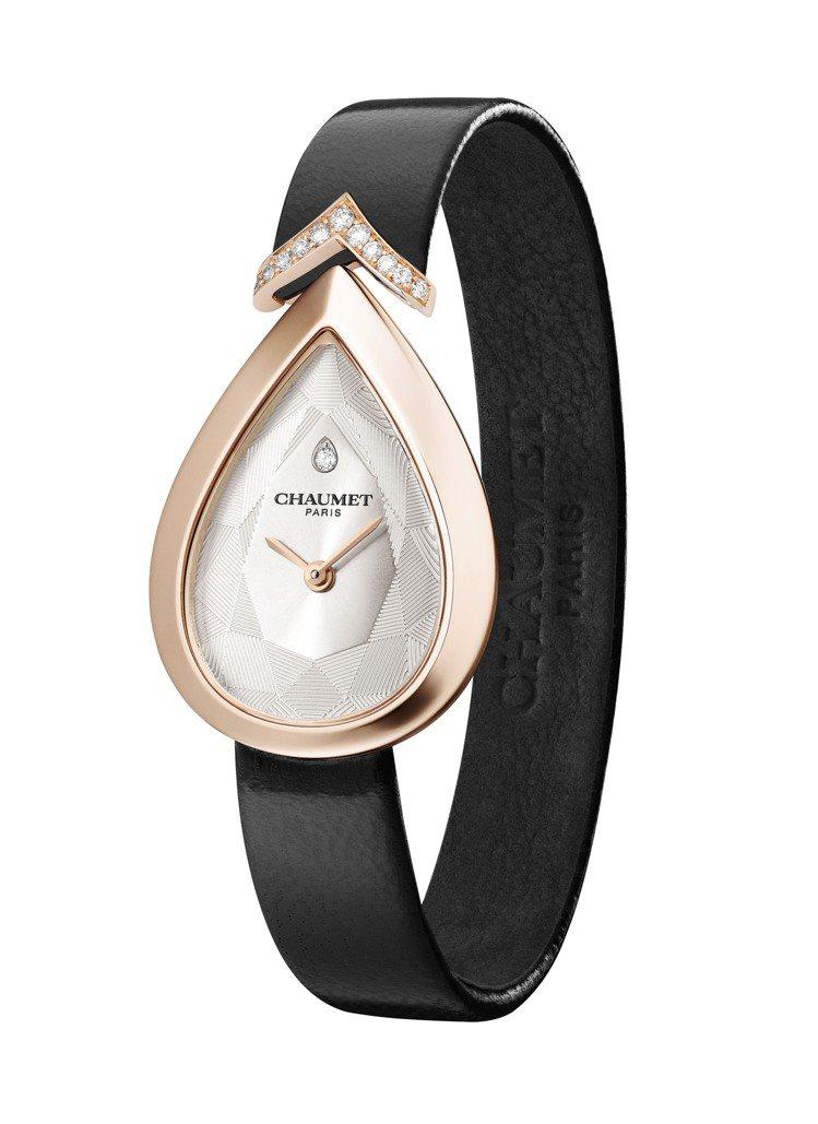 CHAUMET Joséphine Aigrette 18K玫瑰金腕表,配鑲鑽...