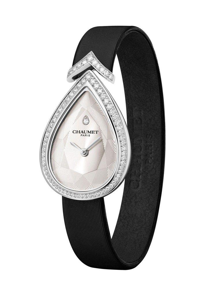 CHAUMET Joséphine Aigrette 18K白金鑲鑽腕表,配鑲...
