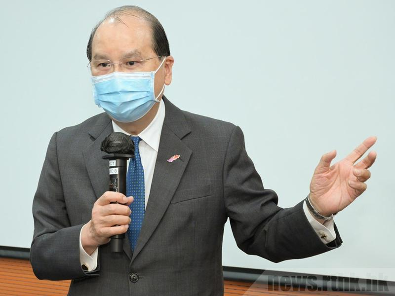 港府政務司長張建宗。香港電台