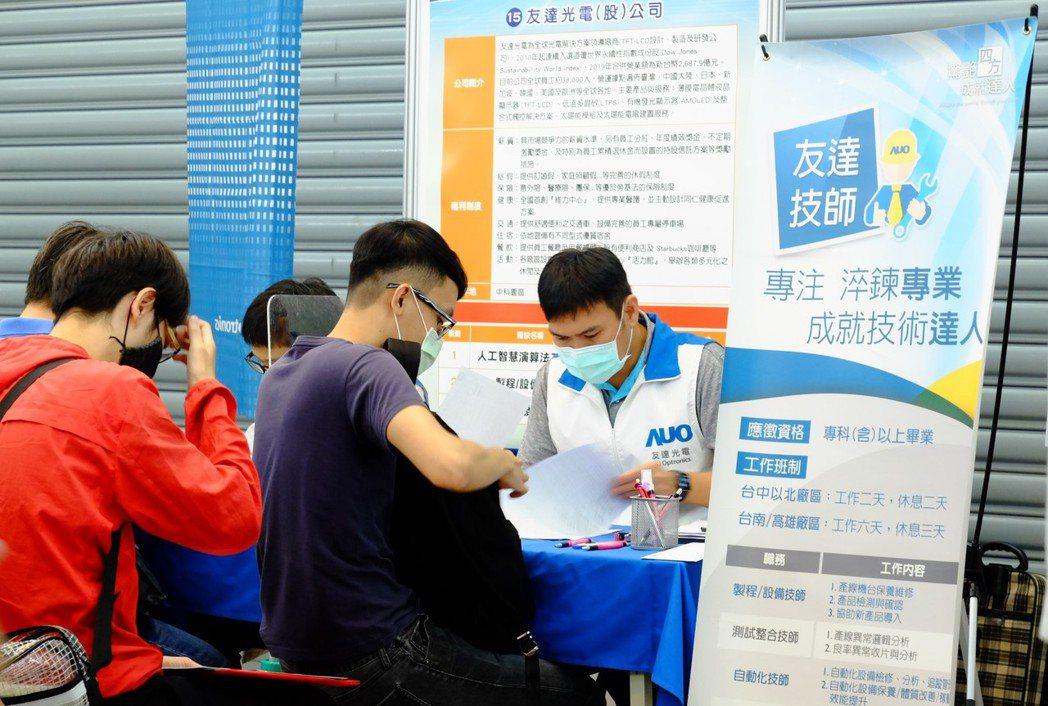 助應屆畢業生就業,台中市勞工局5月要辦40場次徵才活動。圖/中市勞工局提供