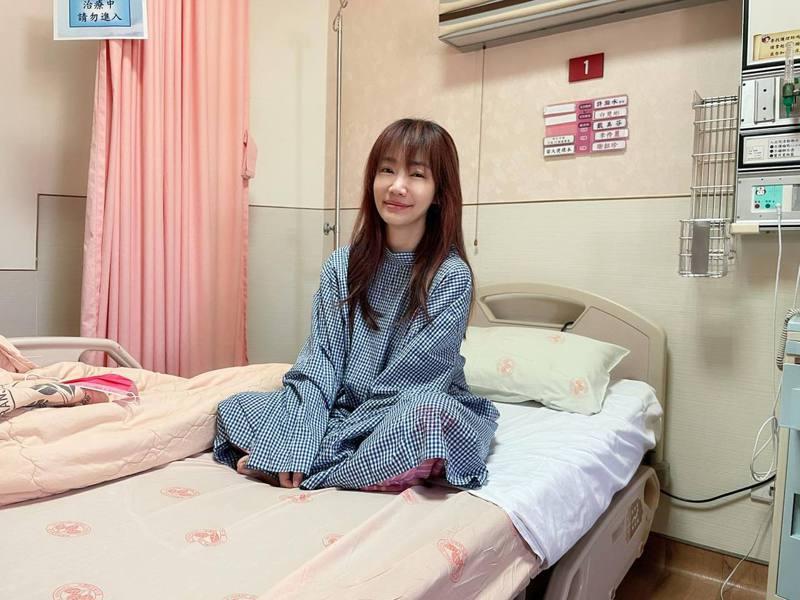 前主播蕭彤雯今年3月因肺腺癌0期開刀。圖/摘自臉書