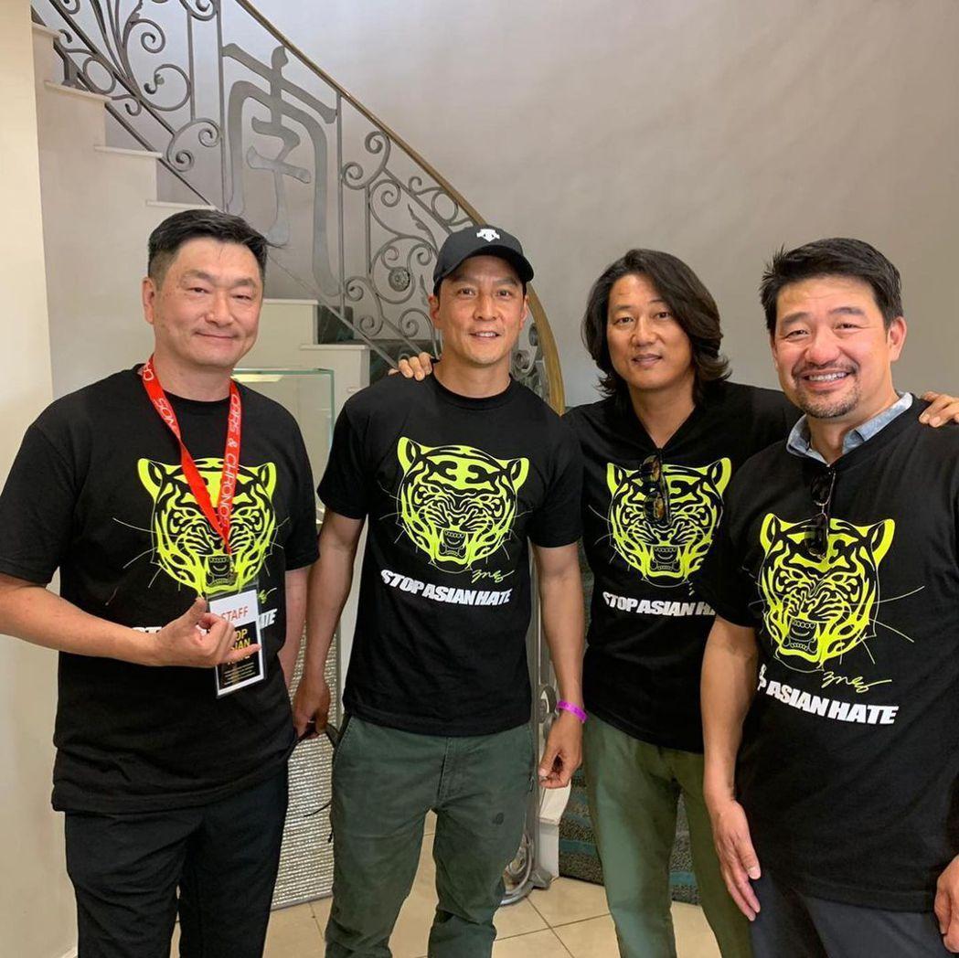 李宏聲(左起)、吳彥祖、姜成鎬都很關心亞裔目前在美國的處境。圖/摘自Instag