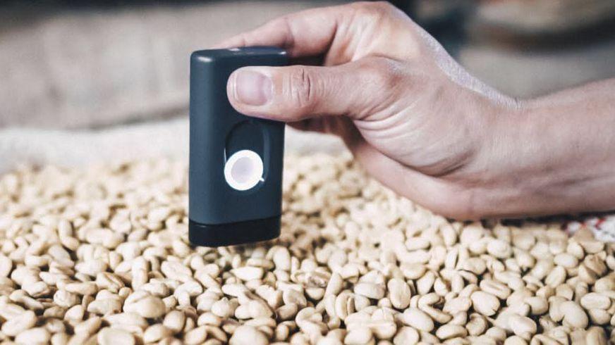 Demetria研發的人工智慧咖啡品鑑器。彭博資訊