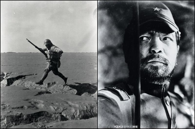 《土地與軍隊》劇照;《五人的偵察兵》劇照。 圖/取自日活株式會社