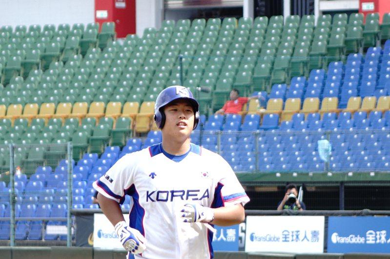 南韓強打姜白虎被譽為「韓國大谷翔平」、「韓職歐提茲」。  聯合報系資料照