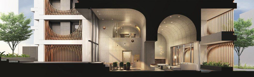 「鐫月」從建築外觀到內部門廳、庭園景觀、夜間燈光、玄關梯廳等都是極具現代設計語彙...