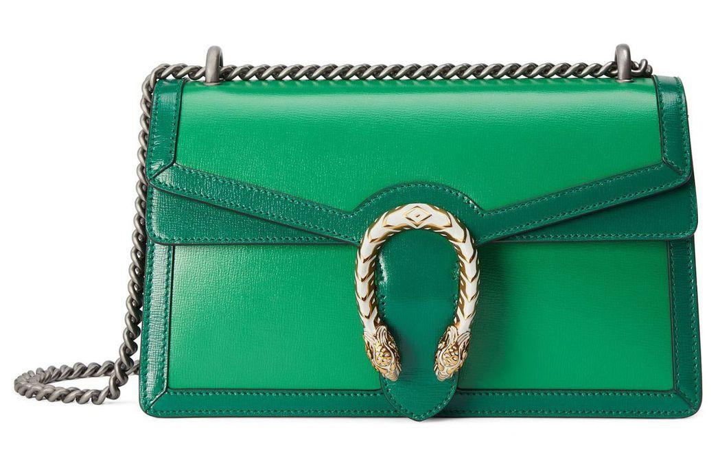 Dionysus 系列綠色鍊袋包 96,500元。圖/Gucci 提供