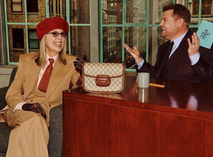 黛安基頓演出Gucci Beloved系列形象廣告,展示Horsebit 195...