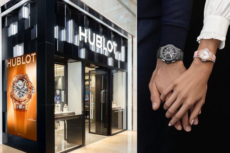 HUBLOT位於台北101 購物中心的全台唯一旗艦店。圖/宇舶表提供