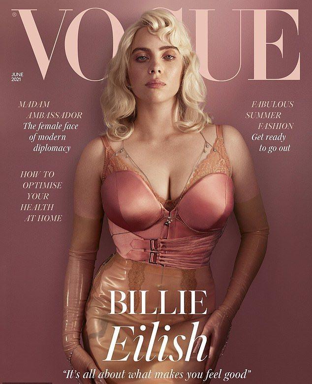 怪奇比莉的性感新封面,才剛發布就獲得超多粉絲按讚。圖/摘自Instagram