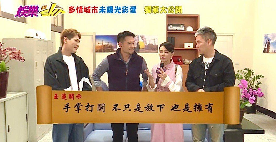 「娛樂超skr」節目直擊柯叔元(左)、德馨離婚戲。圖/民視提供