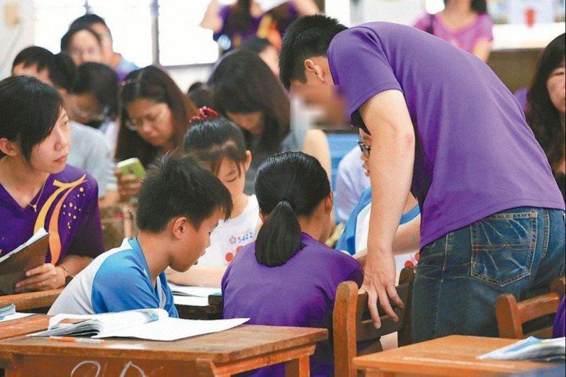 台北市國中藝能科教師的缺額幾乎全數開雙語,讓部分流浪多年的代理教師因還沒考過英檢門檻,連報名資格都沒有。本圖是示意圖。圖/聯合報系資料照片