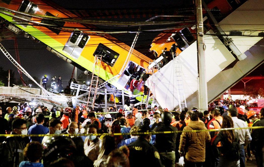 捷運車廂從天墜落:墨西哥首都「捷運高架崩塌」已知23死