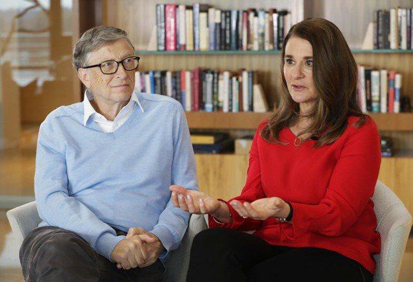 左為比爾蓋茲,右為梅琳達。 美聯社