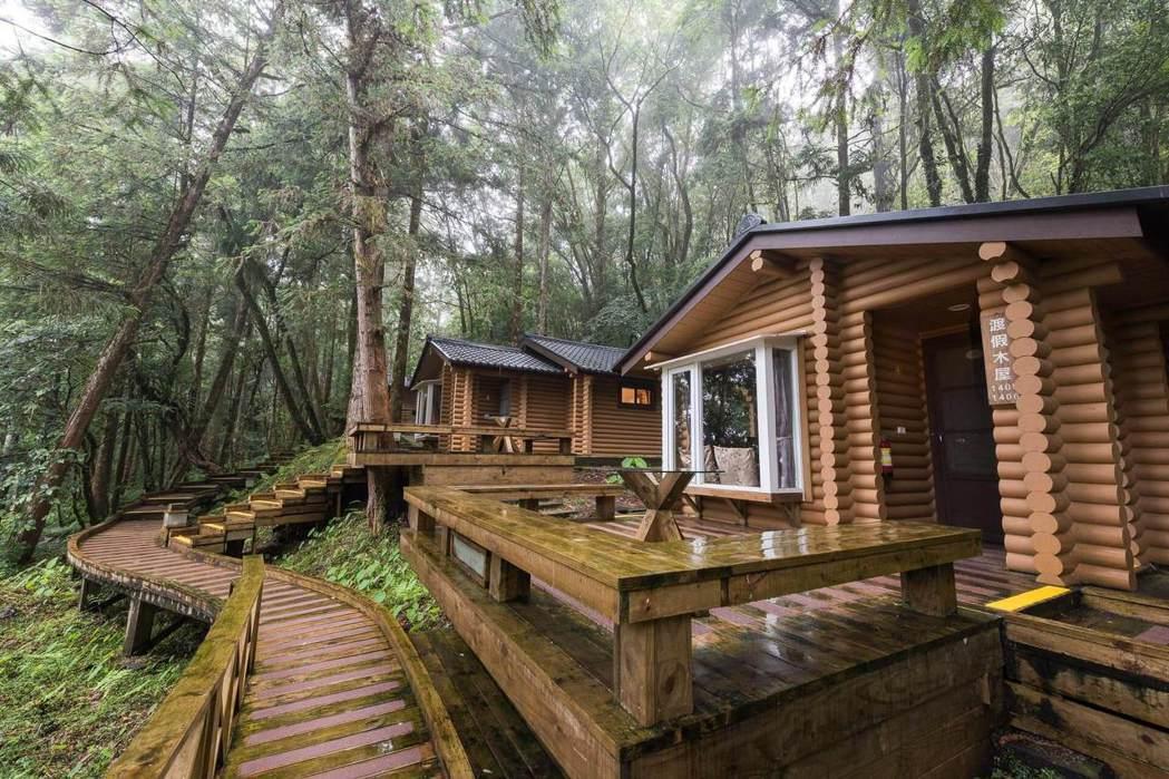 力麗馬告明池山莊渡假山莊木屋。 力麗/提供。