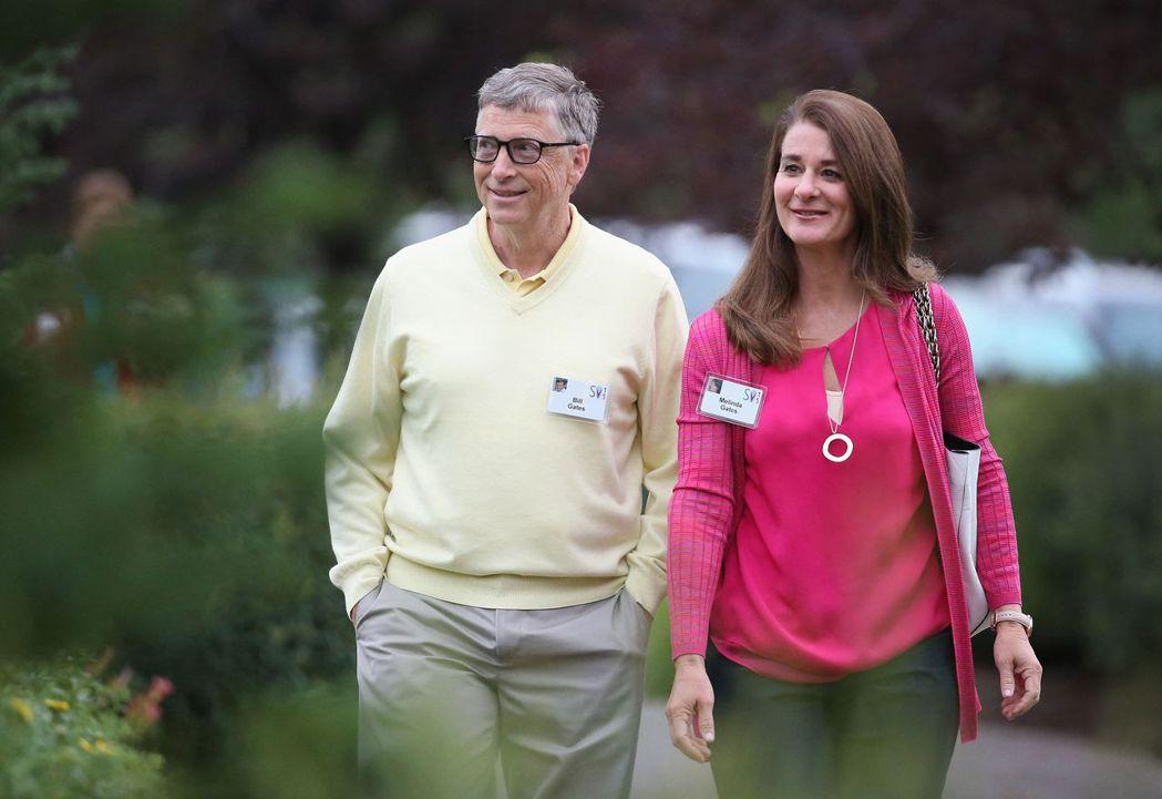比爾蓋茲與梅琳達3日宣布結束27年的婚姻。法新社