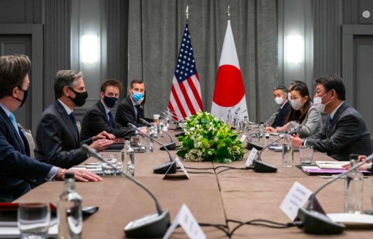 七大工業國集團(G7)成員國的外交部長3日齊聚英國倫敦準備開會。(圖取自twitter.com/SecBlinken)