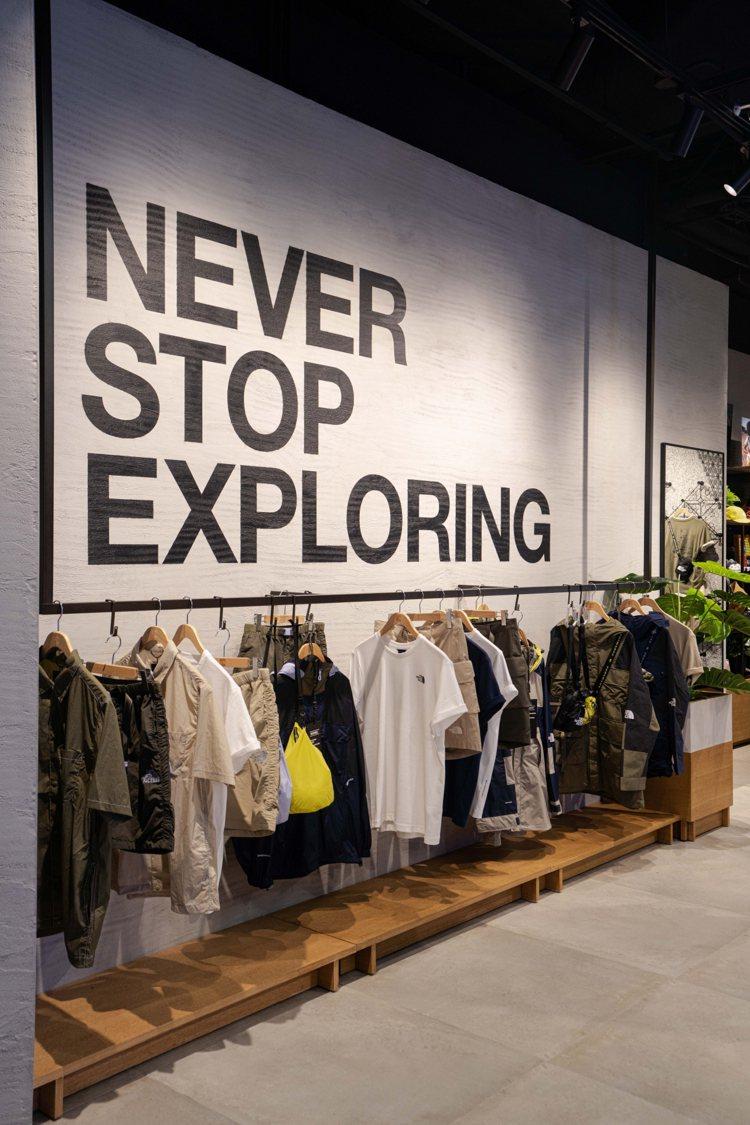 品牌的精神標語「Never Stop Exploring 」也成為The Nor...