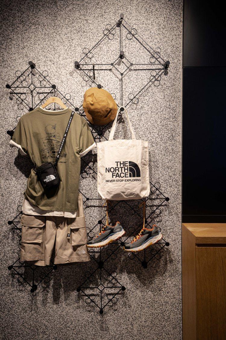 The North Face台北101旗艦店,店裝設計還融入了台灣特色。圖/Th...