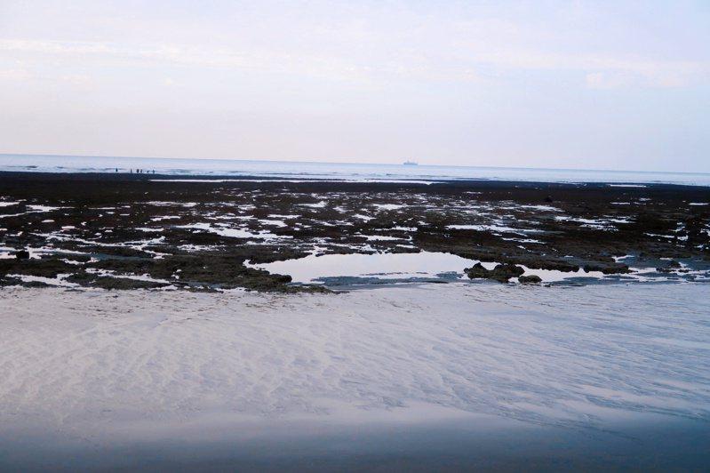 大潭藻礁。記者朱冠諭/攝影