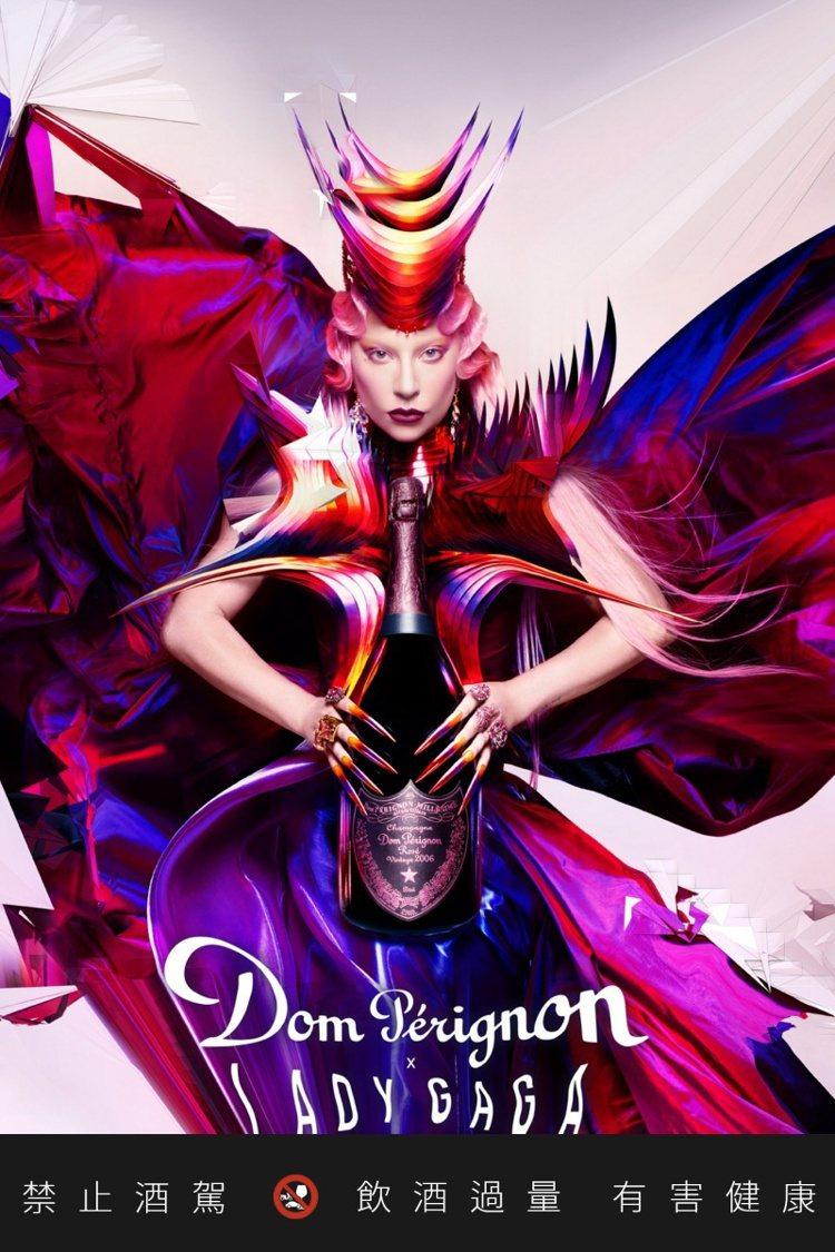 Lady Gaga與香檳王展開為期兩年的合作,共同實踐創造的力量。 圖/酩悅軒尼...