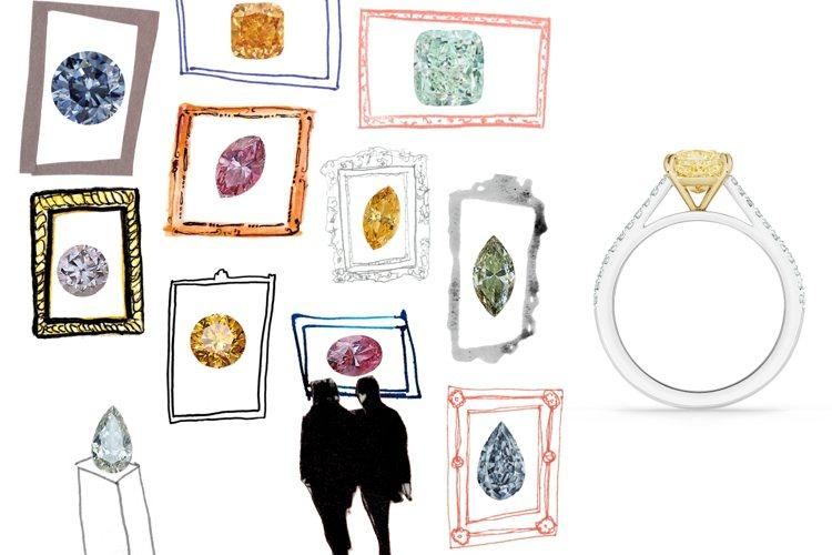 DE BEERS推出選鑽指南「如何挑選您的完美鑽石」影音及單鑽系列新品。圖/DE...